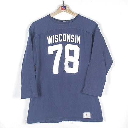70's Wisconsin Champion Jersey Tee - L (M)