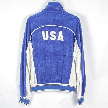 1986 USA Olympics Levi's Zip Velour Sweatshirt - M