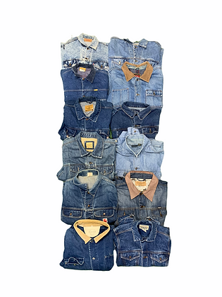 Lined Unlined 90's 2000's Denim Jackets Wholesale Bundle Lot (Levi's, Wrangler)