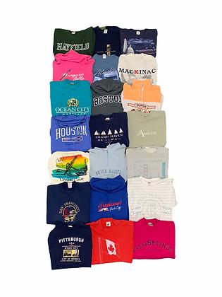 Locations Sweatshirt Hoodie Tee T-shirt 21 Item Wholesale Bundle Lot (Canada,US)