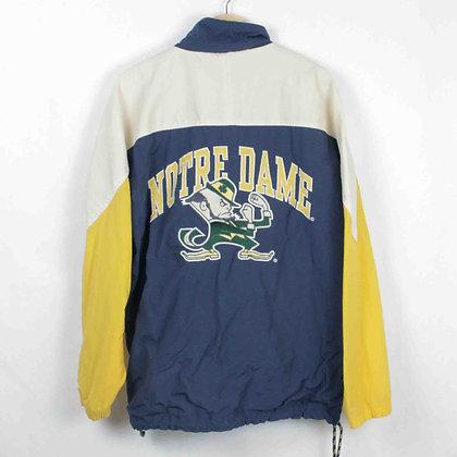 Vintage Notre Dame Windbreaker - L