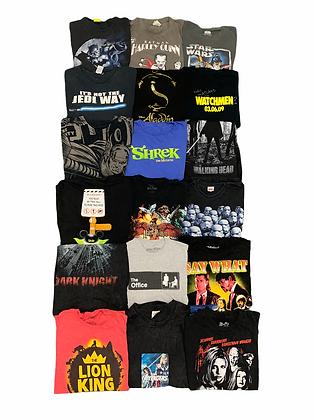Movie TV Television Shows Tee T-Shirt 18 Item Wholesale Bundle Lot Pulp Fiction