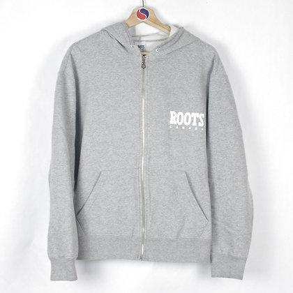 90's Roots Canada Zip Hoodie - M