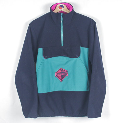90's Women's Zip Fleece - L