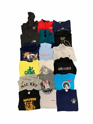 Assorted Sweatshirt Hoodie 18 Item Wholesale Bundle Lot (Minnie, OVO, Biggie)