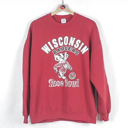 90's Wisconsin Badgers Crewneck - XXL