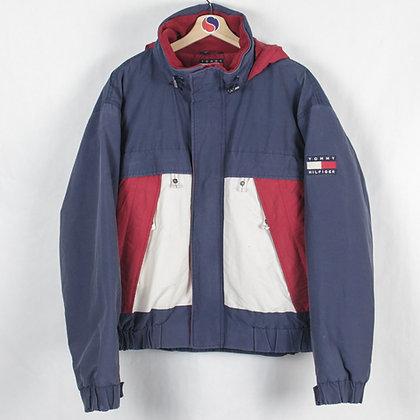 Vintage Tommy Hilfiger Fleece Lined Flag Jacket - L