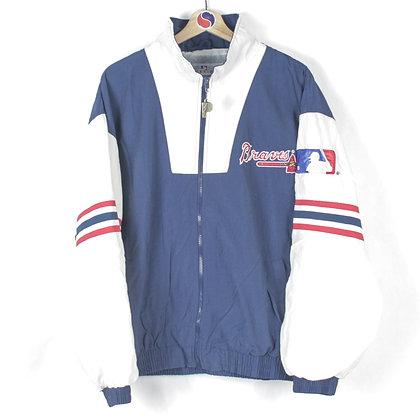 90's Atlanta Braves Pro Player Windbreaker - M