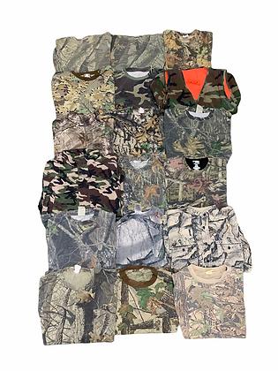 90's 2000's Camo Hunting Camouflage Tee T-shirt Sweatshirt Jacket Wholesale Lot