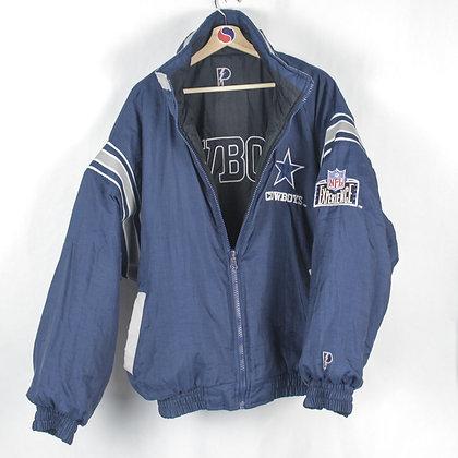 90's Dallas Cowboys Pro Player Reversible Jacket - L