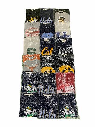 New In The Plastic NCAA College Varsity Uni Tee 18 Item Wholesale Bundle Lot