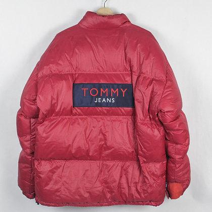Vintage Tommy Jeans Puffer Jacket - L