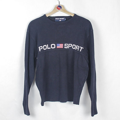 90's Women's Polo Sport Sweater - M