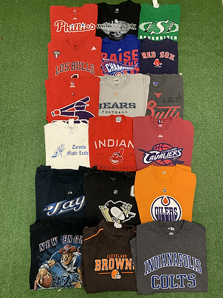Pro Sports Tee T-shirt Wholesale Bundle Lot (Colts, Leafs, Pittsburgh, Bulls)