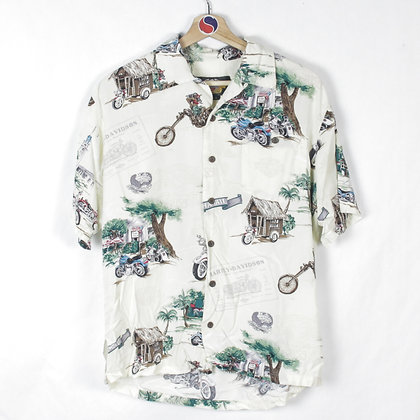 90's Harley Davidson Button Up - S