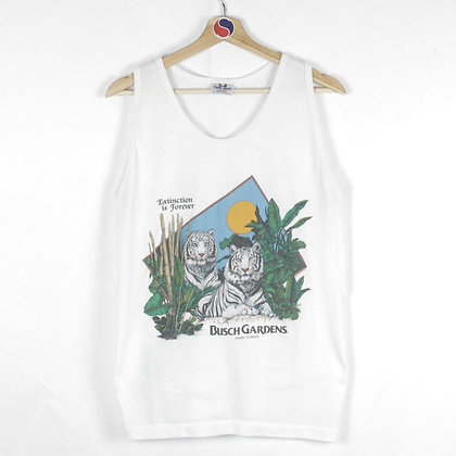 80's Busch Gardens Extinction Is Forever Tank Top - L (M)