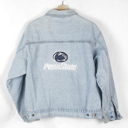 90's Penn State Denim Jacket - L