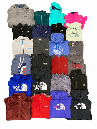 The North Face Assorted Clothing 24 Item Wholesale Bundle Lot Jacket Hoodie Tee