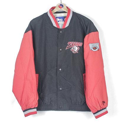 90's Buffalo Sabres Pro Player Snap Light Jacket - M