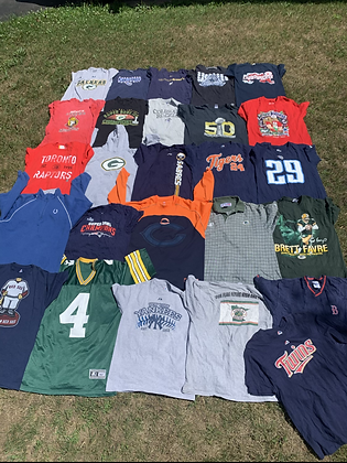 Pro Sports Clothing Wholesale Bundle Lot (NFL, NBA, NHL, MLB)