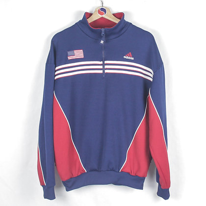 90's Adidas Team USA Soccer Sweatshirt - M