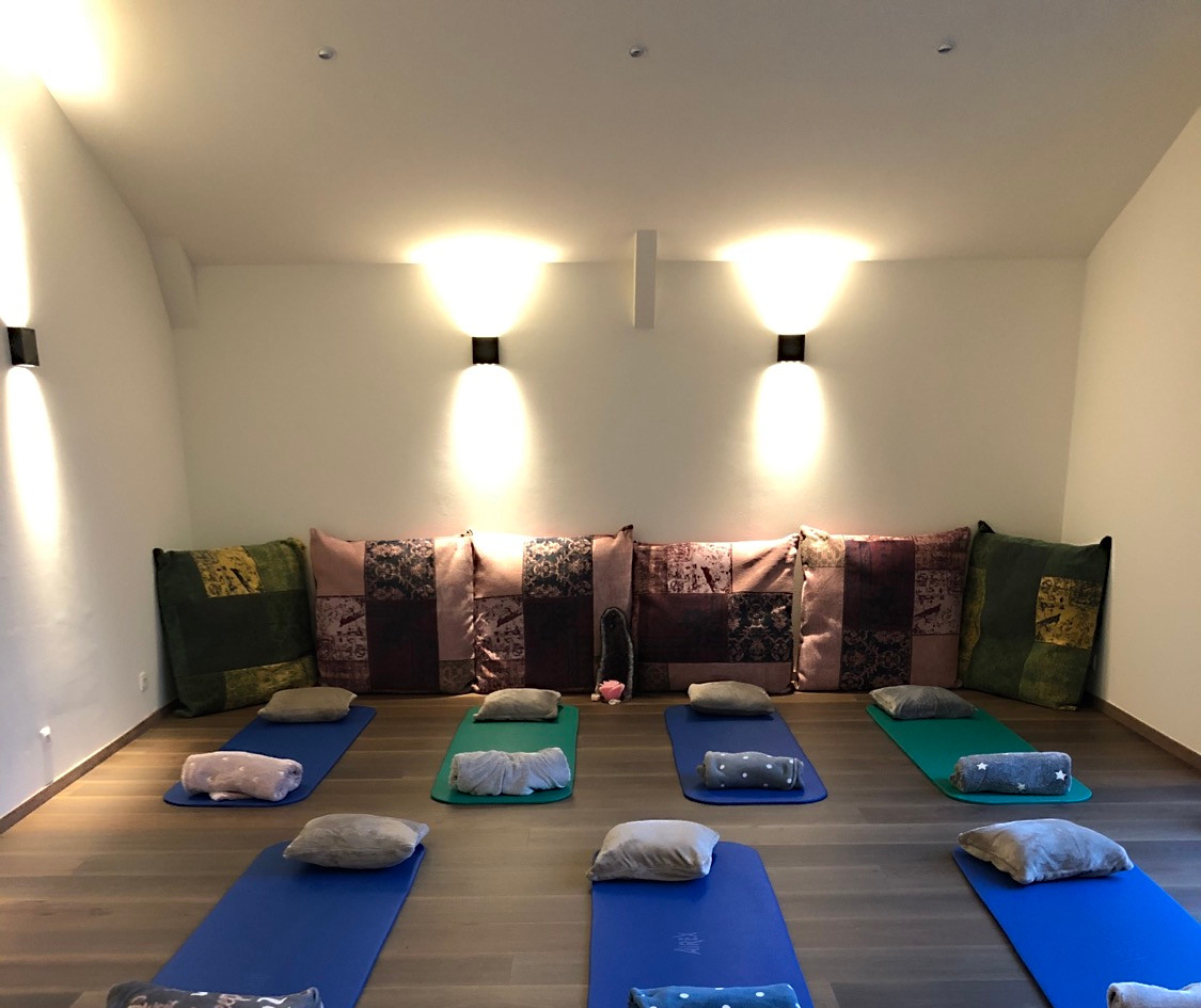 Our brand new yoga room