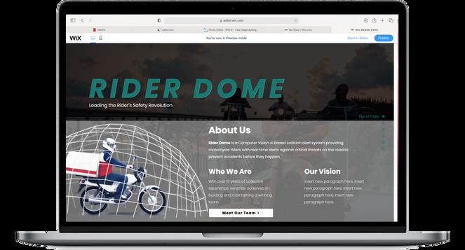 Rider Dome   Web Design