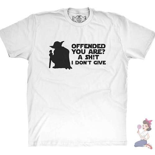 Yoda offended you are, A shit I don't give white t-shirt