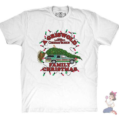 A Griswold Family Christmas white flat t-shirt