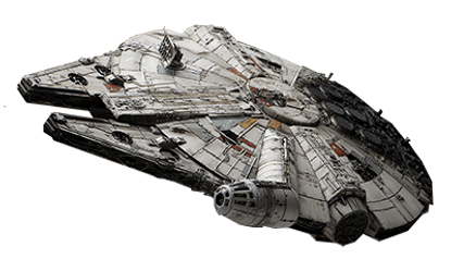The Millenium Falcon spaceship from star wars