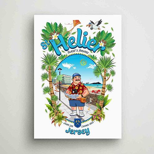 St Helier Tourist Paradise Poster Print Jersey