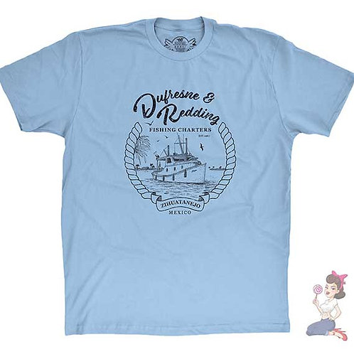 Dufresne And Redding Fishing Charters blue flat t-shirt