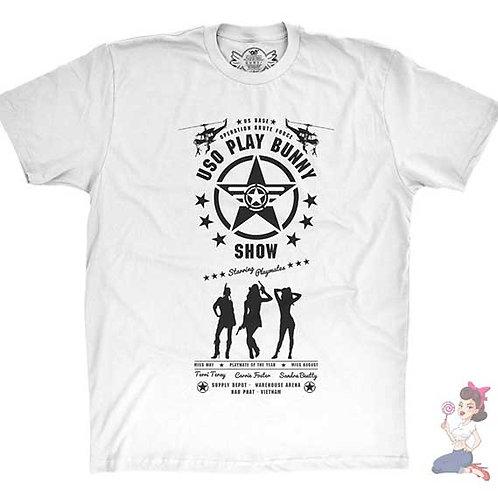 Apocalypse Now USO Playboy Bunny flat white t-shirt