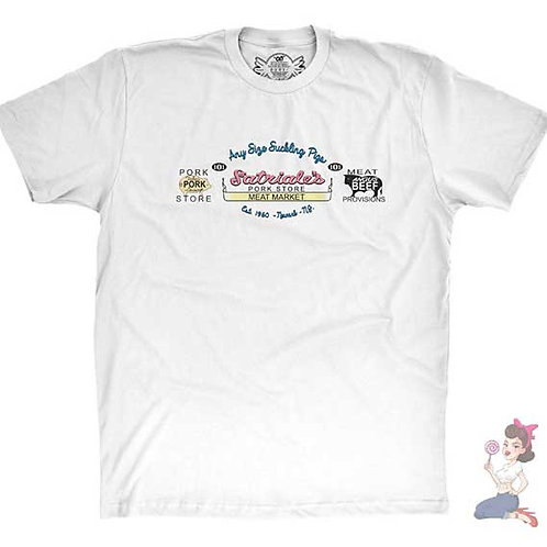 The Sopranos Satriale's Pork Store And Meat Market flat white t-shirt
