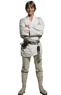 Luke Skywalker character stood smiling
