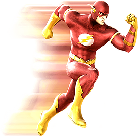 The Flash Super Hero Character Sprinting