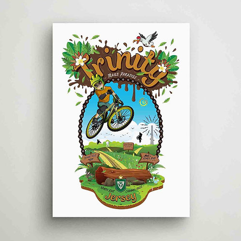 Trinity Trails Paradise Canvas Print Jersey