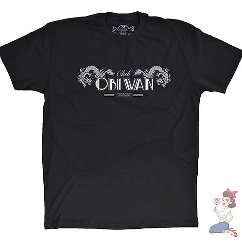 Indiana Jones Club Obiwan flat black t-shirt