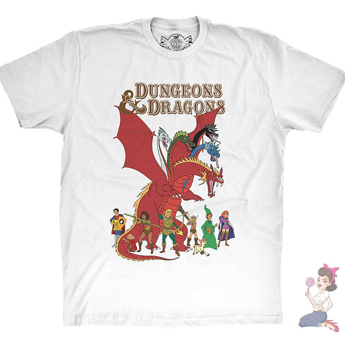Dungeons and Dragons White t-shirt