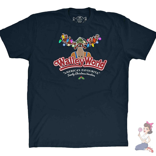 Walley World Christmas Navy t-shirt