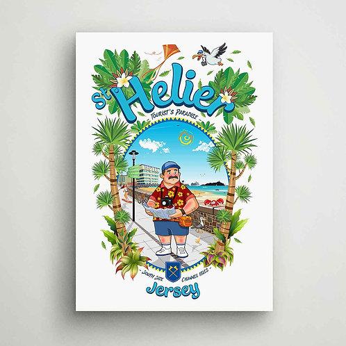 St Helier Tourist's Paradise Canvas Print Jersey