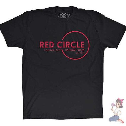 Red Circle Lounge and Spa Nightclub flat black t-shirt