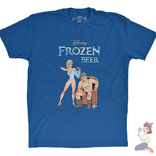 Disney's frozen beer flat Black t-shirt