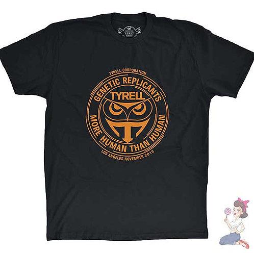 Tyrell Corporation Genetic Replicants black flat t-shirt