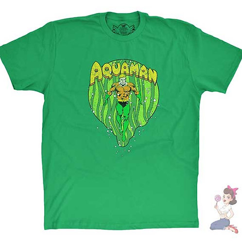 Aquaman flat green t-shirt