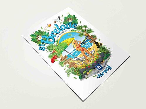 St Brelade Bather's Paradise Print Jersey