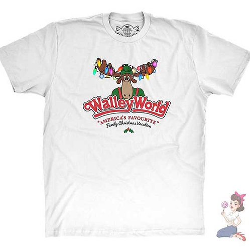 Walley World America's Favourite Christmas Vacation flat white t-shirt