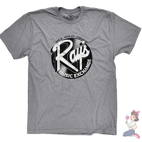 Ray's music exchange flat grey t-shirt