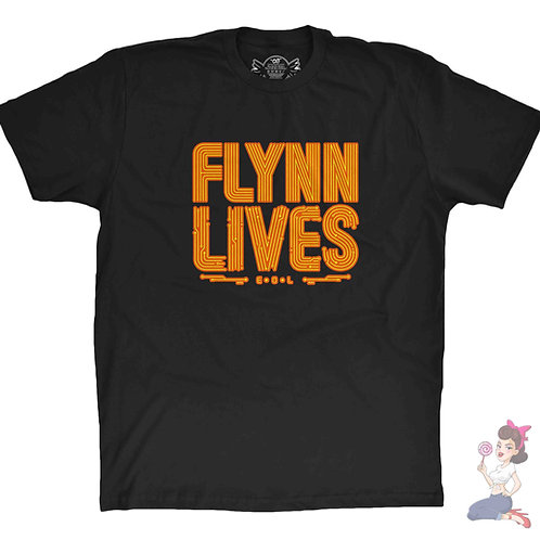 Flynn Lives black t-shirt