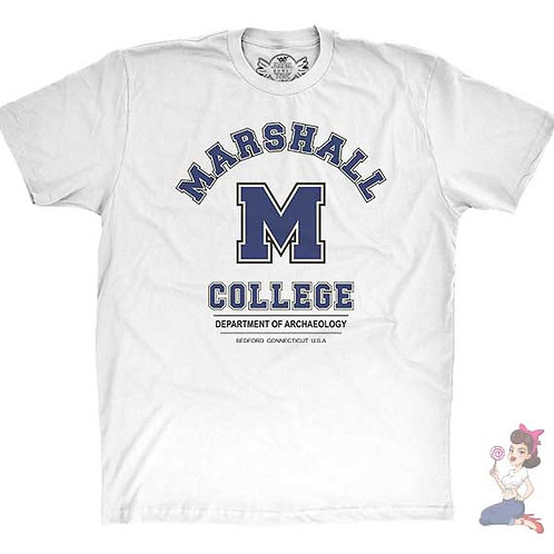Marshall college flat white t-shirt